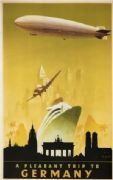 Vintage English poster - A pleasant trip to Germany